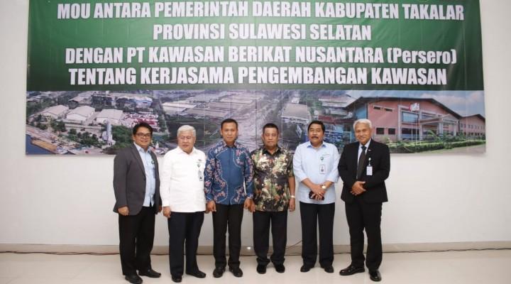 Teken MoU dengan Pemkab Takalar, KBN Siap Datangkan Investor